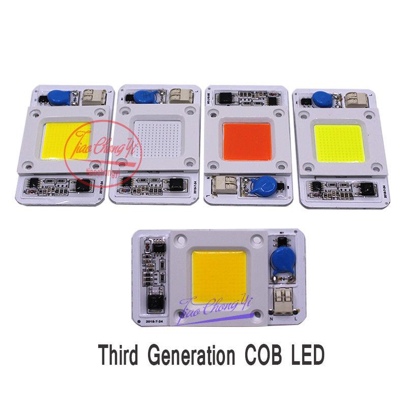 50W Hight Powr Grwoth COB LED AC-220V 110V  No Need Driver Full Spectrum 380-840nm/white/Natural White/warm White