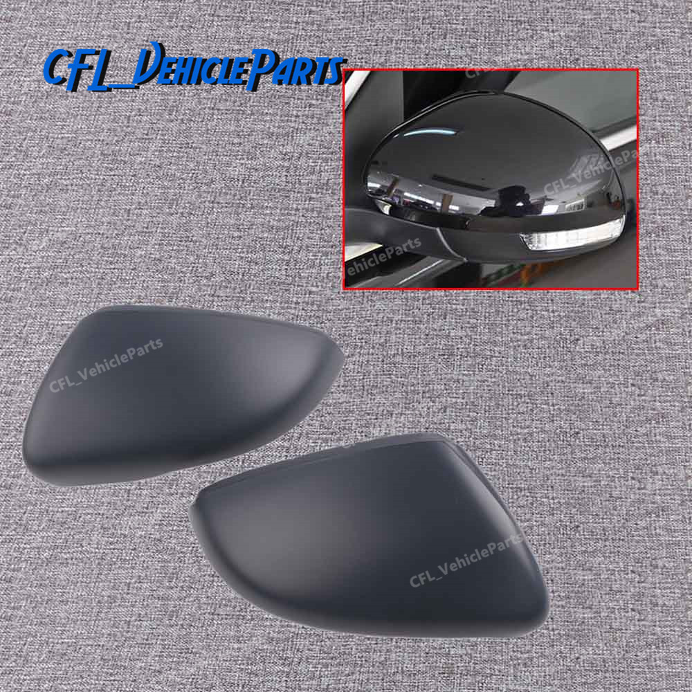 Unpainted Pair Front L <font><b>R</b></font> Rearview Wing Mirror Cap Cover 5K0857537 5K0857538 For VW <font><b>Golf</b></font> 6 MK6 Touran 2010 2012 2013 image