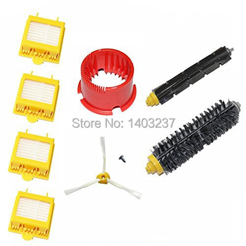 6 * Hepa Filters Bristle Brush Flexible Beater Brush Side Brush Screw Cleaning Tool For iRobot Roomba 700 Series 760 770 780 790