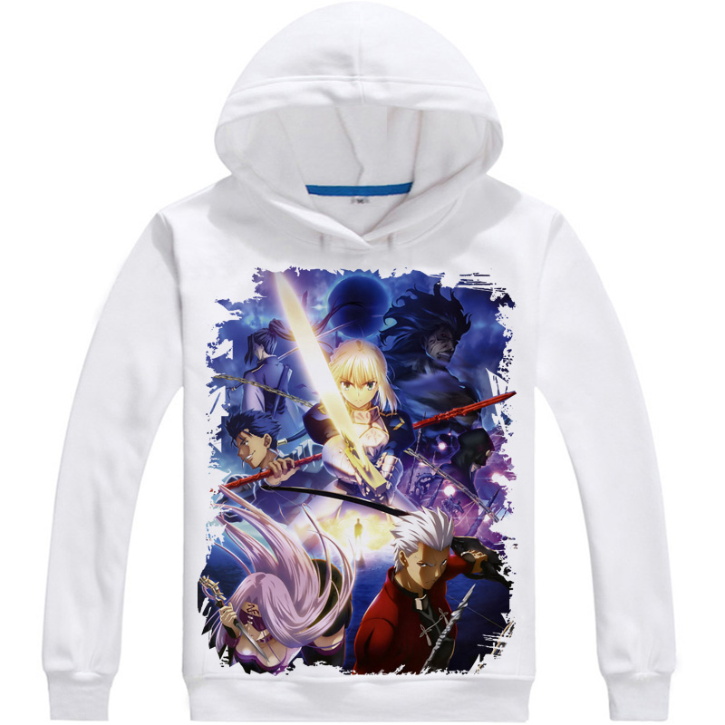 [XHTWCY] Fate Stay Night hoodie saber Anime hooded Fall and Winter Men Coat Jackets warm Sweatshirts