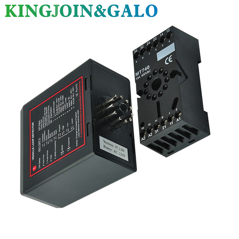 Automatic Gate and barrier gate Single Channel inductive Loop Detector/loop controller/traffic counters heavy duty 1800kg automatic sliding gate motor for gate drive with infrared sensor alarm lamp and loop detector