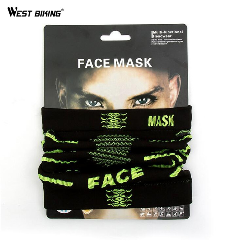 WEST BIKING Bicycle Mask Outdoor Multifunction Magic Scarf Face Protection Warm Windproof Scarf Headgear Cap Cycling Face Mask