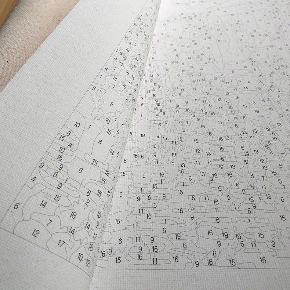 إطار RUOPOTY أمستردام لوحة زيتية ذاتية الصنع حسب الرقم لوحة الخط الطبيعي الاكريليك الطلاء على قماش للديكور المنزلي الفني