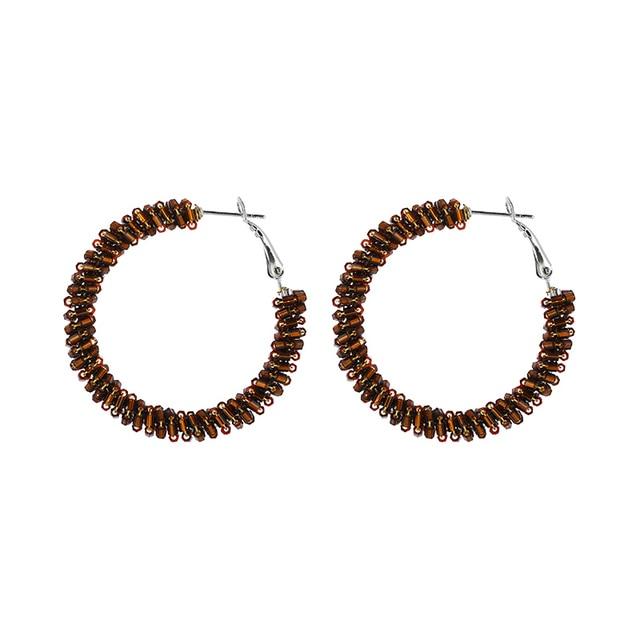Новые цилиндрические серьги кольца inkdew с бусинами и кристаллами