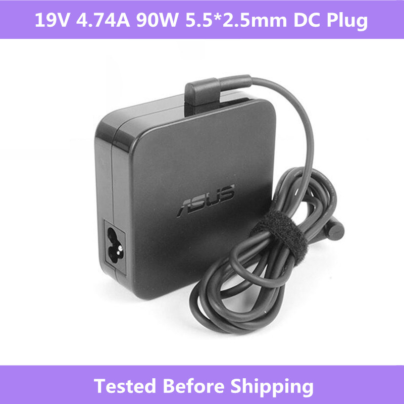 Asus 19 V 4.74A 90 W 5.5*2.5mm PA-1900-30 AC Chargeur adaptateur secteur Pour Asus K501UX K53E K55A Q550L U56E X53E X551M X555LA Ordinateur Portable