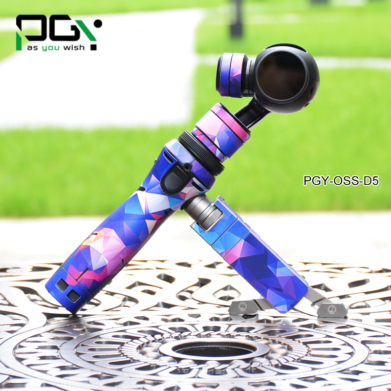 PGY DJI OSMO PVC Skin Decal Sticker shell Handheld 4K Camera and Stabilizer Original 3Axis photography Gimbal Part accessories