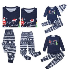 CANIS Xmas 2018 Lovely Family Matching Christmas Elf Print Pajamas Sets Adults Kids Sleepwear Nightwear New(China)