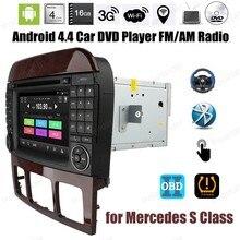 Android4.4 DVD-ПЛЕЕР Автомобиля Quad Core сенсорный экран радио Для M/ercedes S класс Поддержка DTV BT 3 Г Wi-Fi Зеркало Ссылка DAB TPMS OBDII GPS