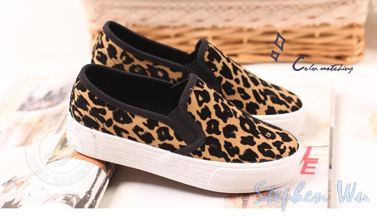 191cff7c319 New.2015 canvas women shoes fashion leopard shoes woman vintage platform  sneakers wear resisting women sneakers running shoes-in Fitness    Cross-training ...