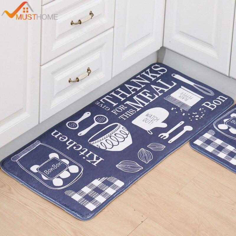 Microfiber Non Slip Bath Mat Cartoon Print Kitchen Mat/Rug