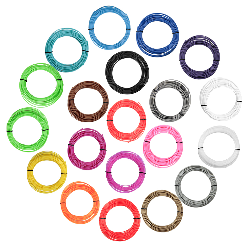 5 Meters ABS Plastic Wire 1.75mm  3D Printer Materials Threads ROHS Certified 3D Pen Filament