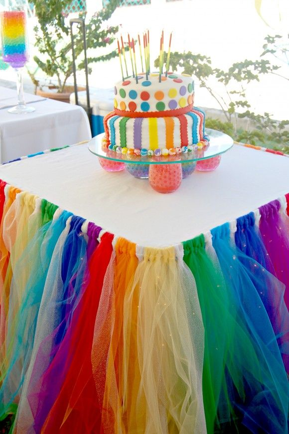 Superieur Colorful Handmade Tulle Tutu Table Skirt Organza Christmas Wedding Banquet  Birthday Party Sign Table Decorations Customize In Table Skirts From Home  ...