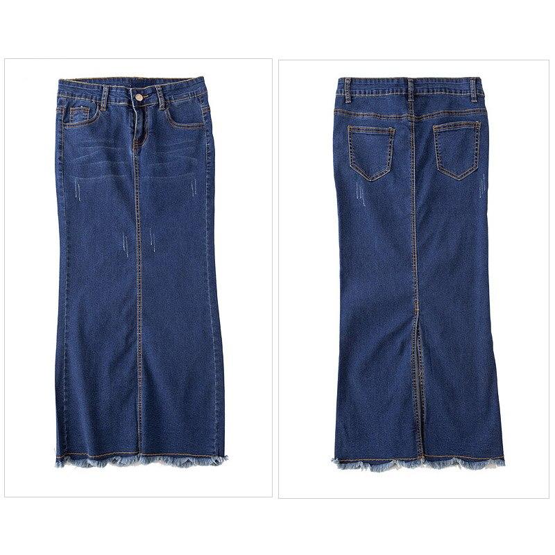 43642ee27074 Women Elegant Tassel Denim Long Skirt Summer Casual Sexy Maxi Jeans Pencil  Skirts Plus Size Saia Jeans Longa Office Skirt ZIH506-in Skirts from Women's  ...