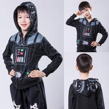 Children Star Wars Jacket Force Awakening Jedi Samurai 2016 Spring Autumn Boys Cotton Jacket Hooded Jackets