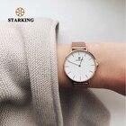 STARKING Luxurious Ladies Watch DW Style Minimalist Watch Steel Women Wristwatches Quartz Relogio Feminino Rose Gold 2018 3ATM