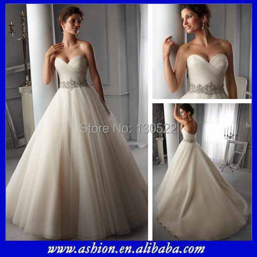 Free shipping WE 2871 Sweetheart neckline tulle ball gown fashion ...