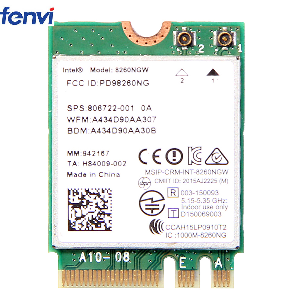Wireless For Intel 8260 AC 8260NGW Dual Band 867Mbps NGFF Wifi Network Card 8260ac 2.4Ghz/5Ghz 802.11ac Bluetooth 4.2 For Laptop