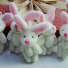 1 шт. Одежда и аксессуары для волос игрушка кукла-мини 4 см шарнир длинные уши Кролик плюшевая мягкая игрушка кукла игрушечная коробка конфет кукла