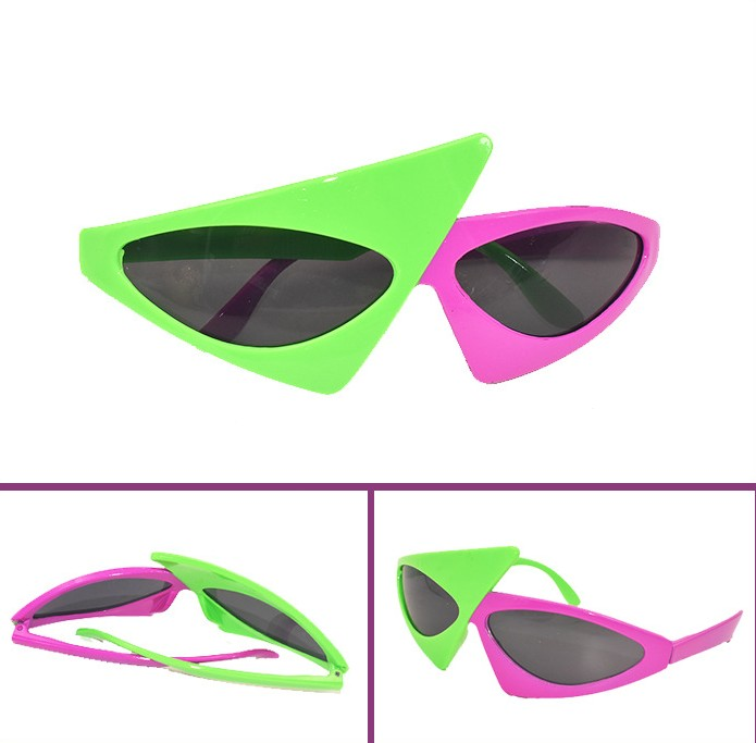 e4abad5db1 Party Mask funny sunglasses Novelty Green yellow Contrast Color ...