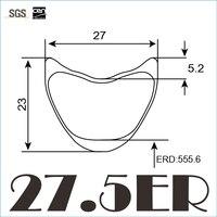 7 TIGER 27 5er Carbon Rims Hookless Carbon MTB Bike 27mm Width 23mm Depth Tubular Rim