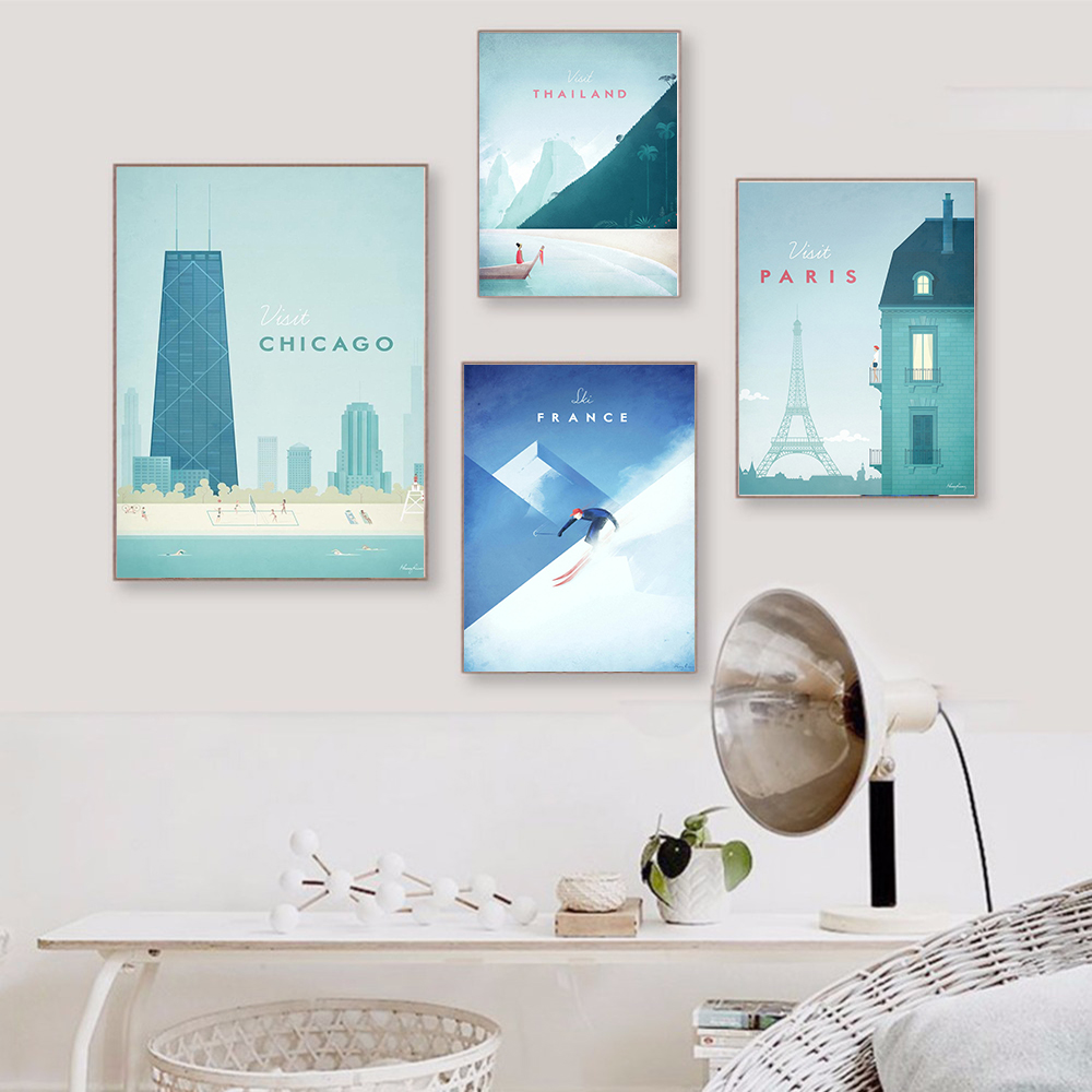 Famous World Travel London Poster Series Attractions Canvas Painting Wall art Posters and Prints Pictures For Famous World Travel London Poster Series Attractions Canvas Painting Wall art Posters and Prints Pictures For Living Room Decor