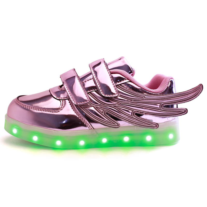 ФОТО TUTUYU 2016 Arrival Free Shipping Boy Girl LED  Casual Shoes Kids Children Shoe  Luminous Light Up Baby Shoes