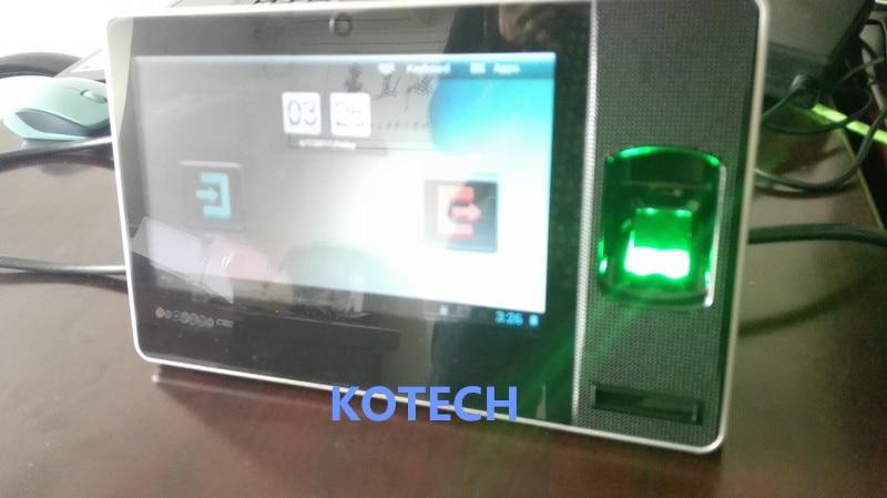 Android lettore di Impronte Digitali tempo Presenze Biosmart-zpad registrazione BATTERIA ZKTECO TCP/IP di WIFI USB software 6000 utenti