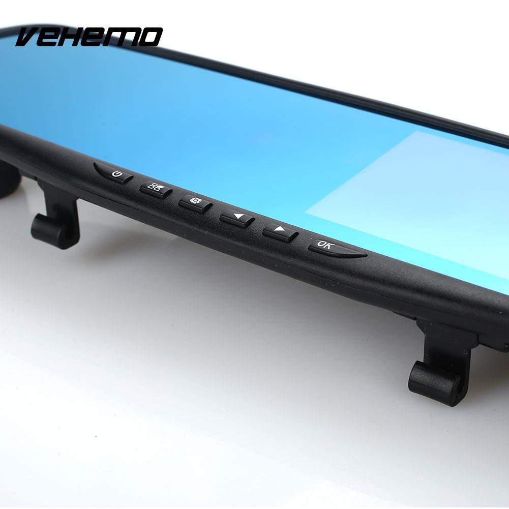 Vehemo FHD 1080P Vehicle Rearview Mirror Auto Camcorder Car Dash Cam Universal DVR Camera Rearview Digital Video Car DVR