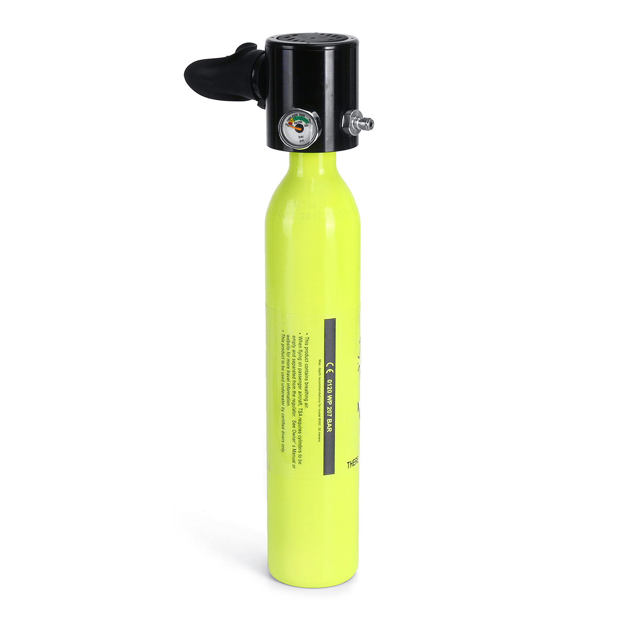 Water Sports 0.5L Scuba Oxygen Cylinder Scuba Diving Tank Orange ...