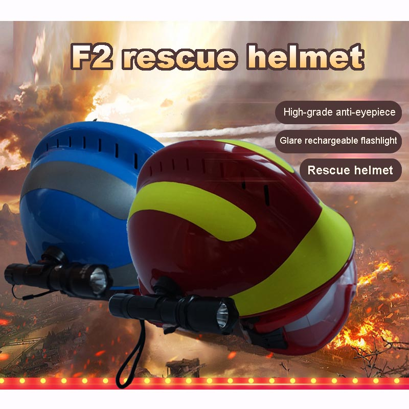 Unisex Durable Disaster Relief Rescue Helmet For Firefighter Worker Construction Safety Supplies Casco De Seguridad Construccion
