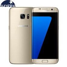 Оригинальный Samsung Galaxy S7 края 4 г LTE мобильный телефон Octa Core 5.5 дюймов 12.0 МП 4 ГБ Оперативная память 32 ГБ Встроенная память смартфон NFC