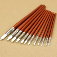 12 Pcs/Set Wooden Handle Paint Pen Watercolor Oil Painting Artists Brushes Store 34