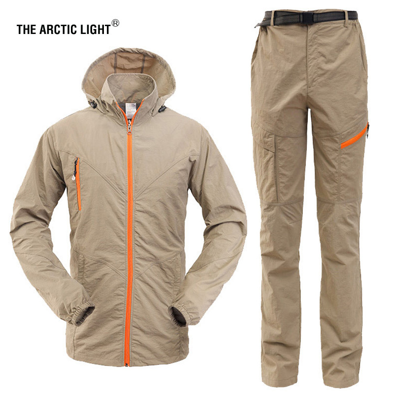 THE ARCTIC LIGHT Set Clothing Male Quick Dry Breathable Sport Suit Camping&Hiking Shirt Pants Men Long Sleeve Hunting Tactical naturehike 2016 quick dry sport pants for men sportwear removable design durable hiking running men clothing s m l xl xxl xxxl