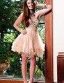 Fashion Homecoming Dresses A-Line Short Party Gown vestido de festa curto short graduation dresses for juniorsZHP334