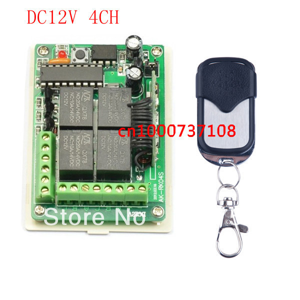 NEW ! Learning Code receiver DC 12V 10A 4CH Wireless Remote Control Switch System smart home controller