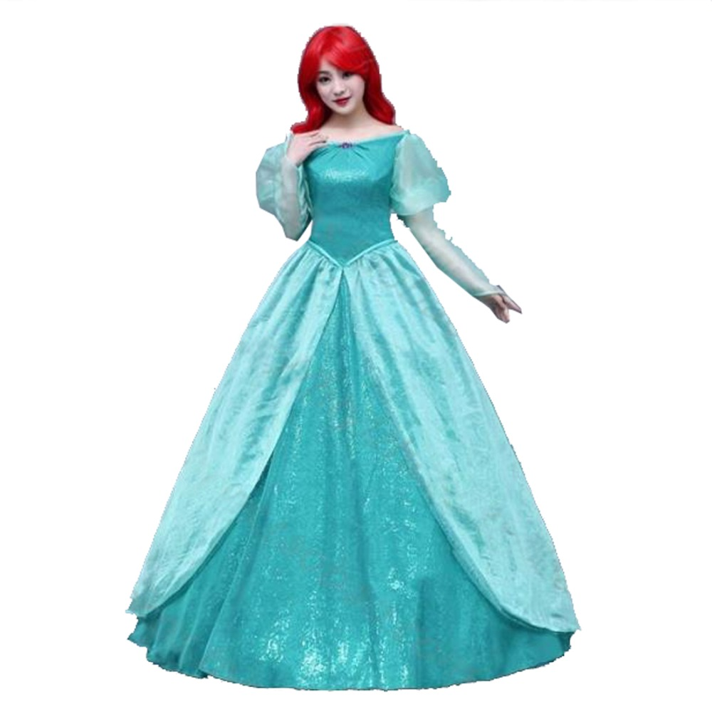 2017 Fantasia Ariel Little Mermaid Dress Women Adult