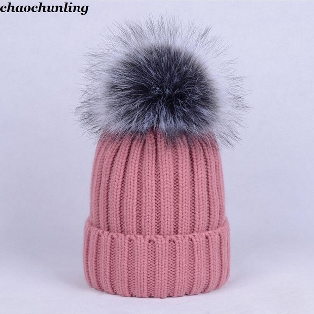 42be057d0ac 2018 New Winter Wool Ball Caps Lady Double Thickened Imitation Rabbit Hair  Hats Korean Version Female Knitted Hats Super Warm