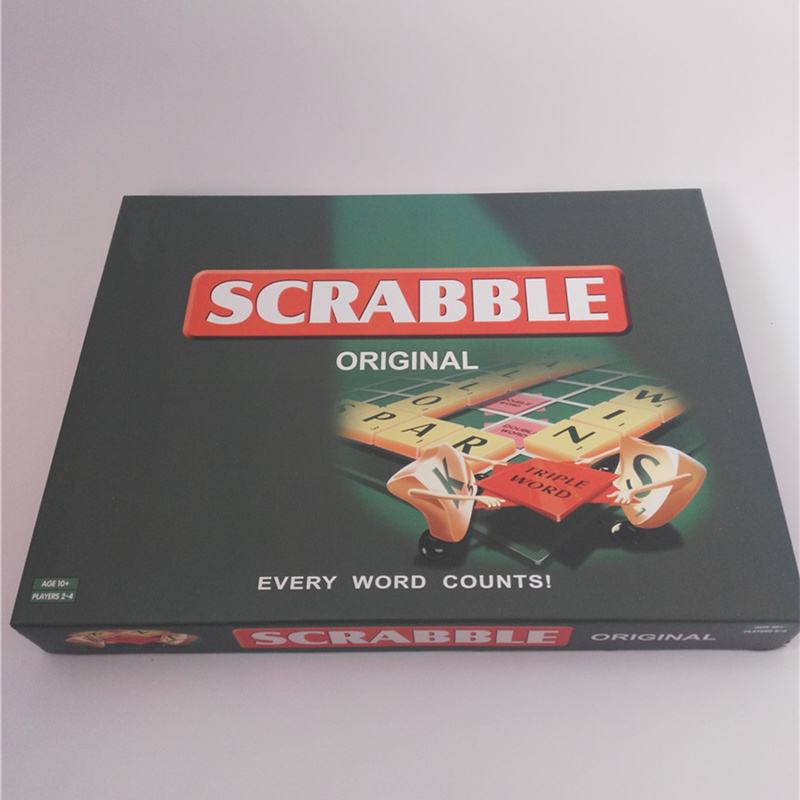 4 Languages Quality Scrabble Games English French Spanish Russian Spelling Learning Puzzles Kids Table Jigsaw