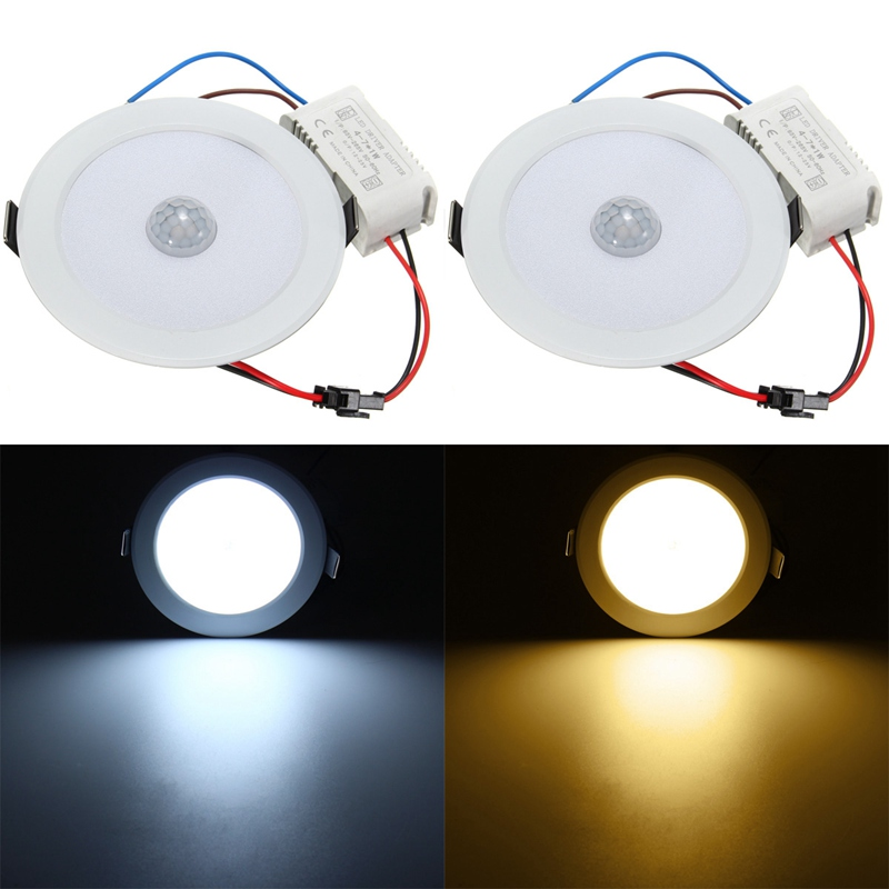 LED Round Shaped Infrared PIR Body Motion Sensor Night Light Ceiling Lamp Cabinet Bedroom Hallway Home Warm White Lighting dc 5v pir auto body motion sensor led night light usb powered cabinet closet wall lamp intelligent bedroom kitchen home lighting