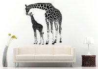 YOYOYU Art Home Decor Baby Giraffe Met Zijn Moeder Giraffe Afrikaanse Creature Animal Muurtattoo Vinyl Sticker Woonkamer WW-485