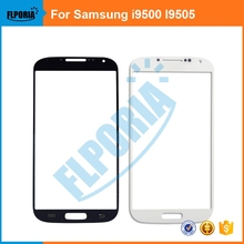 FLPORIA 1PCS For Samsung Galaxy S4 SIV i9500/I9505 Black or White  Front outer glass lens screen +adhesive +tools
