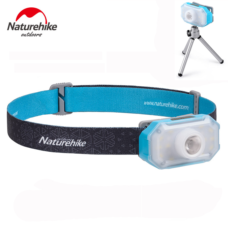 Naturehike outdoor LED headlamp fishing headlight 7 90 hours 4 modes tent lamp Torch flashlight camping