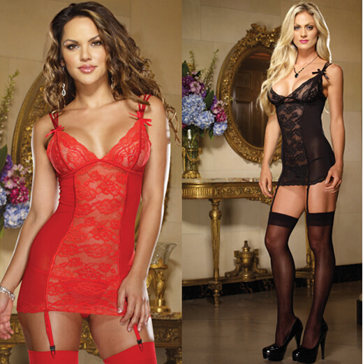 Sexy Adult Women Lingerie Erotic Hot Product Lace Transparent Sexy Night Dress Spaghetti Strap Sleepwear lenceria erotica AB262