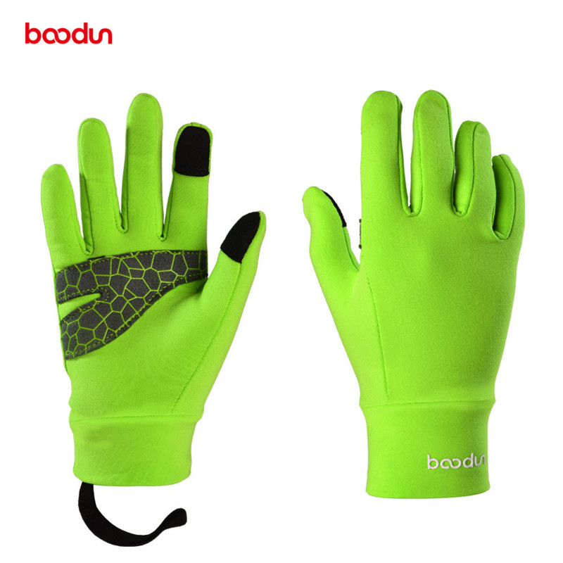 BOODUN 4-12 Years Kids Winter Cycling Gloves Full Finger Thermal Warm Windproof Outdoor Sports Ski Bike Gloves for Boys Girls body building sports cyling half finger gloves for women black red