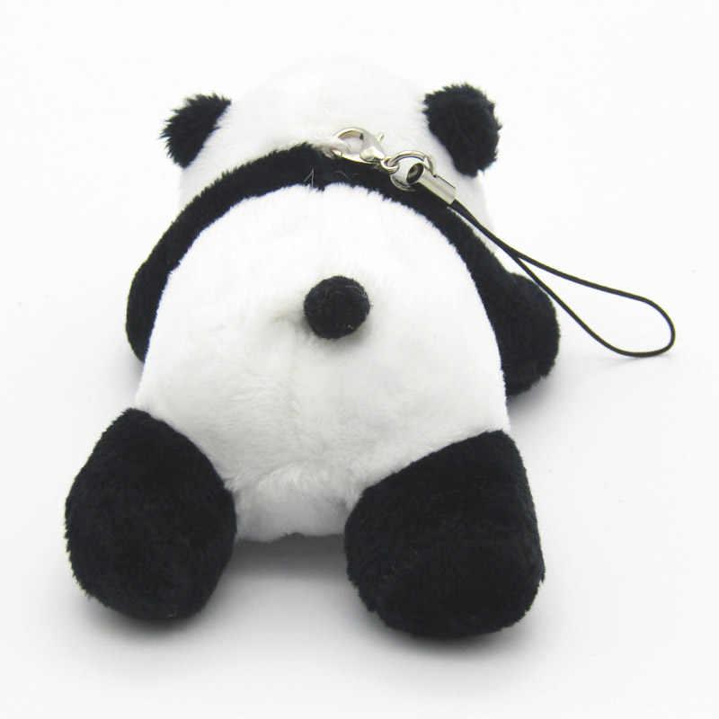 25 шт./лот Kawaii Panda моделирования с цепочкой плюша небольшой кулон по телефону сумка панды куклы детские игрушки подарки для детей 03