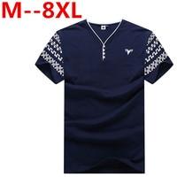 Plus 10XL 9XL 8XL 7XL 6XL 5XL 4XL Summer New Men S Short Sleeved V Neck