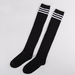 Women football cycling yoga compression socks cosplay footwear winter three bars high tube stripes long sleeved.jpg 250x250
