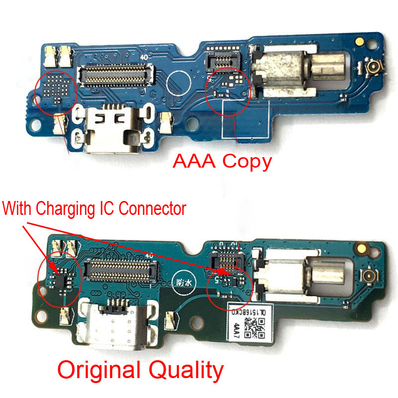 For ASUS Zenfone 4 Max Pro ZC554KL USB Charging Dock Port Micro Charger Connector PCB Board Flex Cable Vibrator