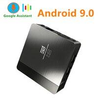 Transpeed TR99 X2 Android 9.0 Smart TV BOX Google Voice Assistant Amlogic S905X2 4GB 64GB fast Wifi Bluetooth 4K 3D top box IPTV