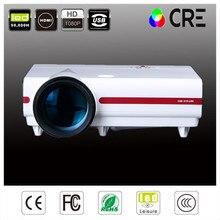 ¡ Caliente!!! Full hd 3500 lúmenes WXGA 720 P CRE LED LCD 2 USB HDMI Video Proyectores Beamer Projektor proyector Digital para de cine en casa